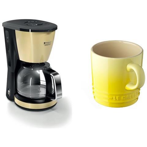 CM TDC DC0 Macchina Caffè Americano 10 Tazze Potenza 1000 Watt Colore Crema + Tazza Cappuccino Colore Giallo