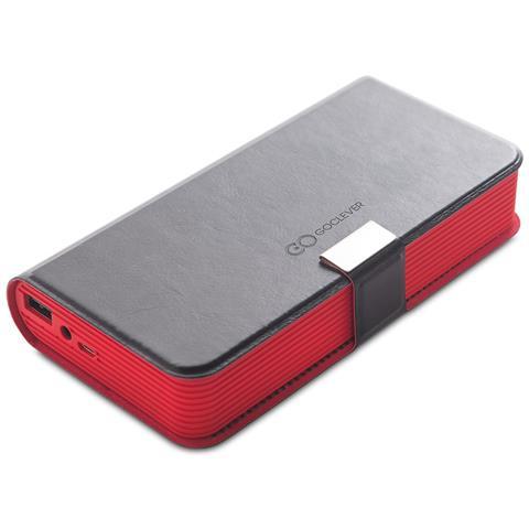 GOCLEVER PowerBank con Altoparlante a Libro 5200 mAh Colore Nero e Rosso