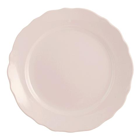"""H&H Set 6 Piatti Piano Ceramica """"vaniglia"""" Rosa Tableware"""