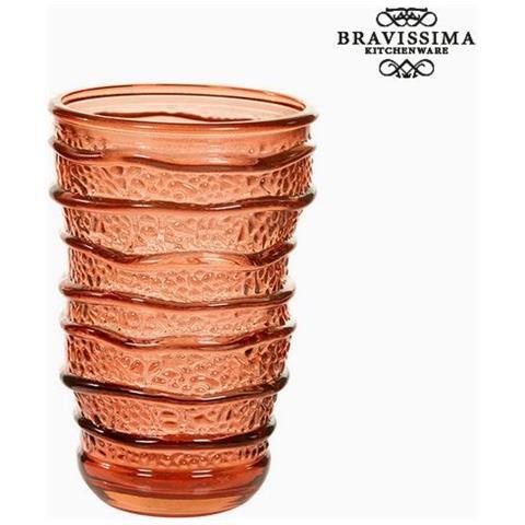 Bicchiere In Vetro Riciclato Corallo (8 X 8 X 13 Cm) S0105998