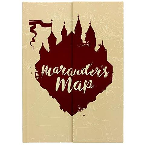 Gamesland Harry Potter - Quaderno A5 - Mappa Di Marauders 'glow In The Dark', Beige