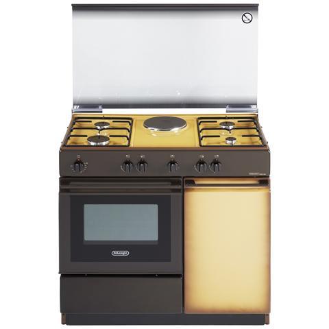Cucina Elettrica SEK 8541 N 1 Zona Cottura Elettrico e 4 Fuochi Gas Forno Elettrico Classe...