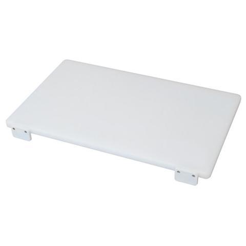 Tagliere in polietilene professionale con fermi colore bianco Cm 40x50x2,5