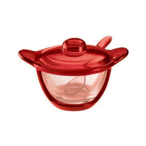 Formaggera 'bolli' Colore Rosso Trasparente
