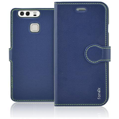 FONEX Identity Book Custodia a Libro per Huawei P9 Colore Blu
