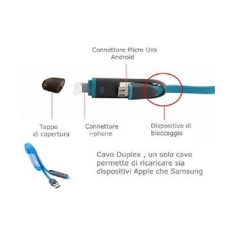 TECNO Cavo Ibrido Apple / micro Usb Tecno Tc-122