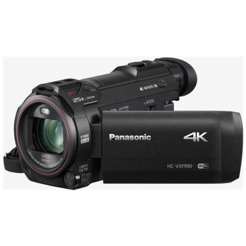"PANASONIC HC-VXF990 Nero Sensore MOS BSI UHD 4K Zoom ottico 20x Display 3"" Stabilizzatore Wi-Fi"