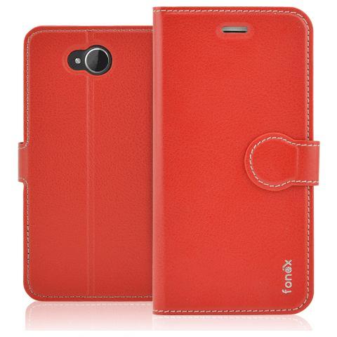 FONEX Identity Book Custodia a Libro per Microsoft Lumia 650 Colore Rosso