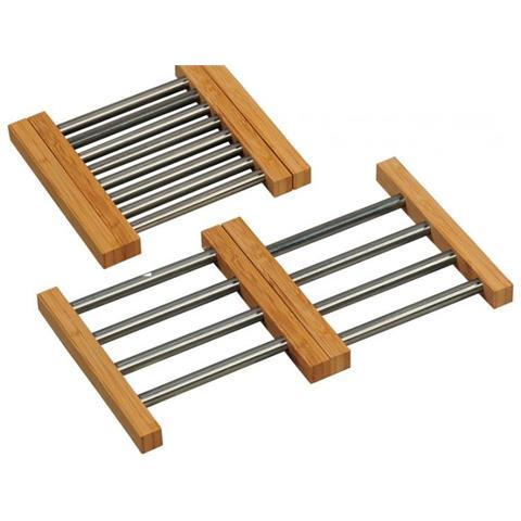 Sottopentola Allung Inox-bambu