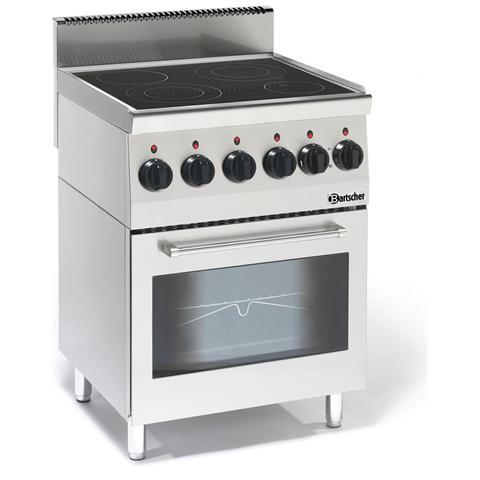 132870 Cucina a 4 fuochi vetroceramica forno elettrico multifunzione
