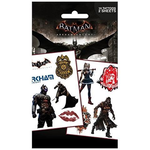 GB EYE Dc Comics: Batman Arkham Knight - Characters (temporary Tattoo)