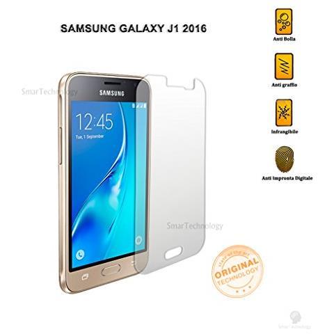 Smartechnology Pellicola Vetro Temperato Per Samsung Galaxy J1 2016 4,5 Pollici Trasparente Protezione Display Salva Schermo Touch Screen