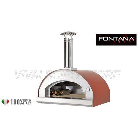 Forno Pizza Mangiafuoco Appoggio - Rosso