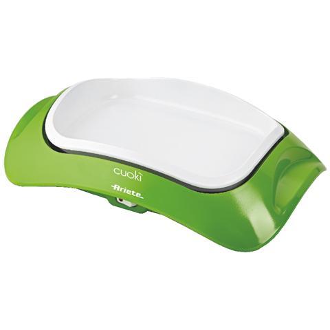 Griglia da Tavolo portatile Cuokì con Piastra in Ceramica Potenza 700 Watt Colore Verde