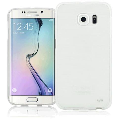 FONEX Perla Cover in Morbido TPU con Effetto Madreperla per Galaxy S6 Edge Colore Bianco