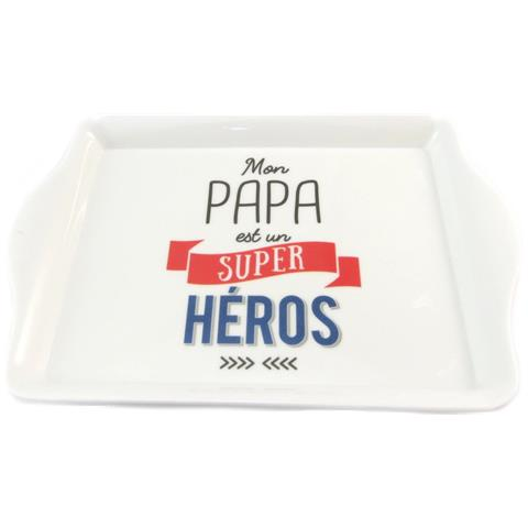 piccolo vassoio 'messaggi' (mio padre è un super eroe) - 205x14 cm - [ p1409]