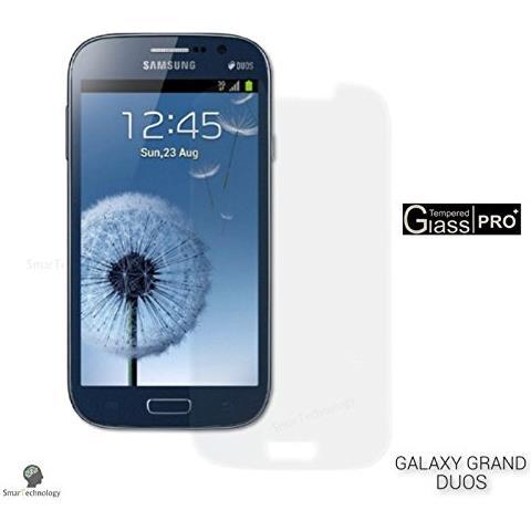 Smartechnology Pellicola Vetro Temperato Per Samsung Galaxy Grand Duos Gt-i9082 Trasparente Protezione Display Salva Schermo Touch Screen