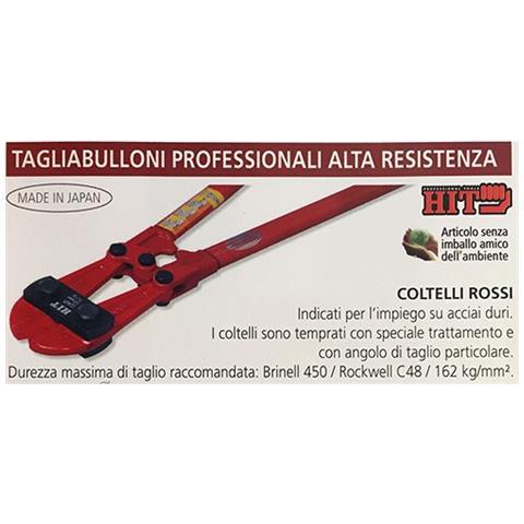 Tagliabulloni Professionale Coltelli Rossi Mm 300 350 450 600 750 900 1050 - Mm. 450 - Nbc...