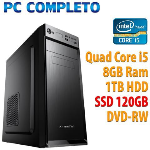 Image of Pc Computer Desktop Intel Quad Core I5/8gb / ssd 120gb / 1tb / dvdrw