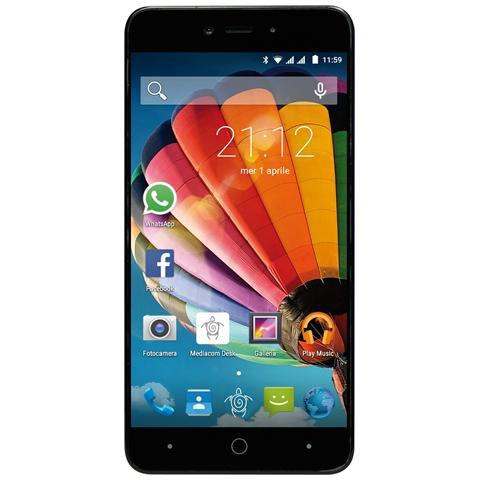"""MEDIACOM PhonePad Duo G515 Grigio 8 GB Dual Sim Display 5"""" HD Slot Micro SD Fotocamera 5 Mpx Android Italia"""