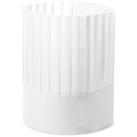 Conf. 20 Pezzi Cappello Plissettato Regolabile Tessuto Non Tessuto