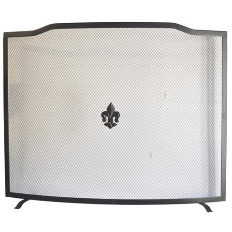 MAURER Parascintille per camino curvo Maurer colore nero opaco 80 cm x h 62 cm