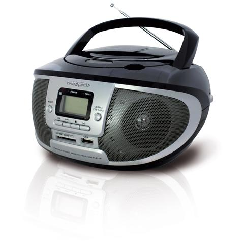 IRRADIO Cdku-55c ns radio CD-MP3 boombox con radio AM / FM e presa usb / sd colore nero - silver