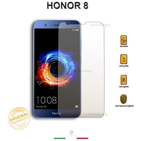 Smartechnology Pellicola Vetro Temperato Trasparente Huawei Honor 8 Con Display Da 5.2 Pollici Salva Schermo Incluso Kit Applicazione