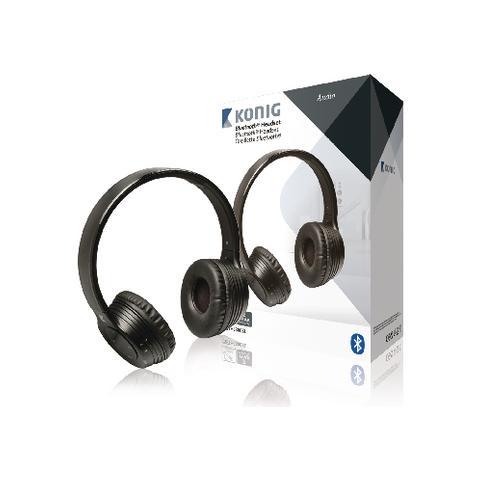 "KÖNIG CSBTHS300BL, Stereofonico, 3.5 mm (1/8"") , Padiglione auricolare, Nero, Wired / Bluetooth, Sovraurale"