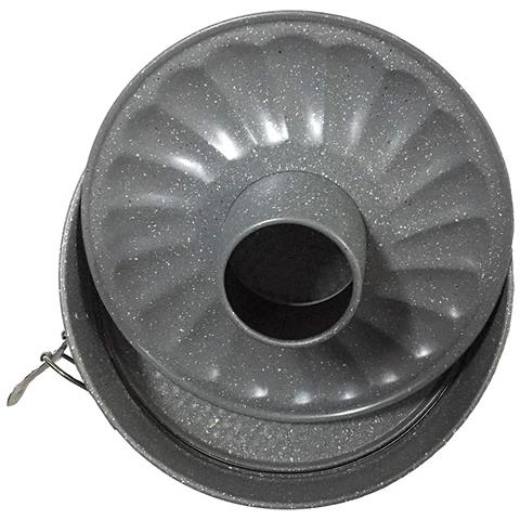 PFOA Free, stampi Dolci In Carbon Steel Effetto Marmo Qualita' Extra - Stampo Apribile Doppio 26 Cm