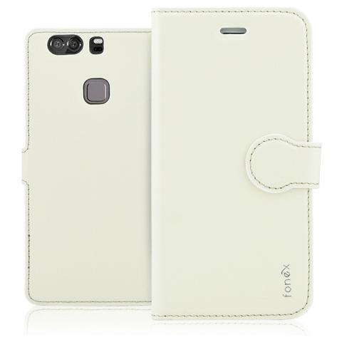 FONEX Identity Book Custodia a Libro per Huawei P9 Plus Colore Bianco