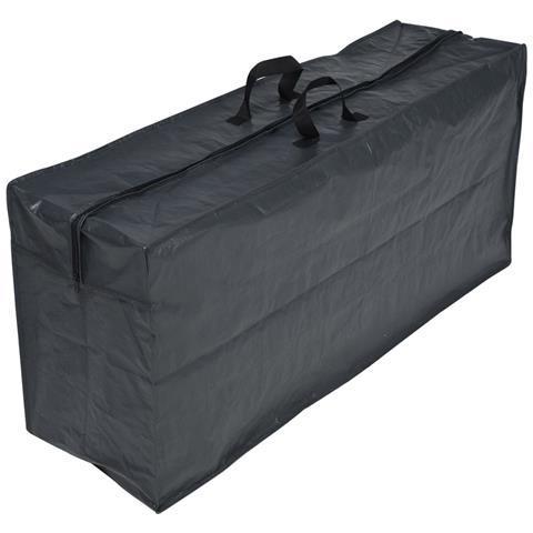 Telo copertura in polietile per cuscini 57 x 128 x 37 cm colore grigio scuro