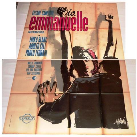 Vendilosubito Manifesto Originale Del Film Emmanuelle 1969 Due Fogli Gigante Rarissimo