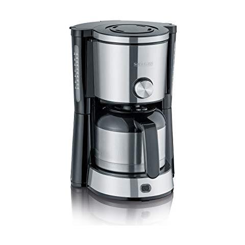 KA 4845 Libera installazione Manuale Macchina da caffè con filtro 1L 8tazze Nero, Acciaio...