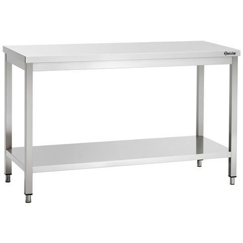 307137 Tavolo da lavoro senza alzatina in inox 1300x700x850-900 mm