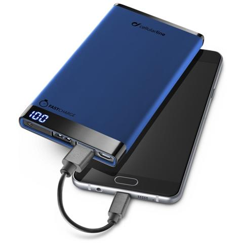 CELLULAR LINE PowerBank da 6000 mAh Freepower Manta Universale colore Blu