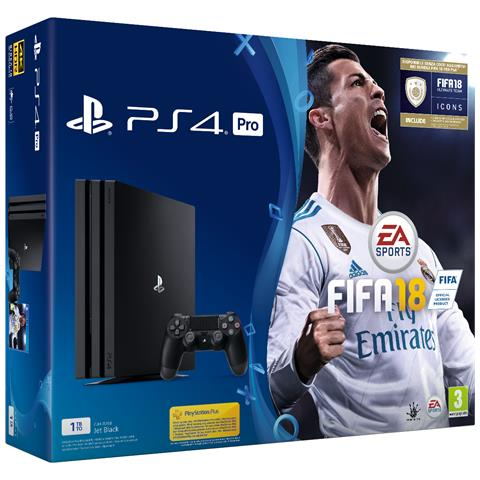 Image of Console Playstation 4 Pro 4K e HDR 1 Tb + Fifa 18 Limited Bundle
