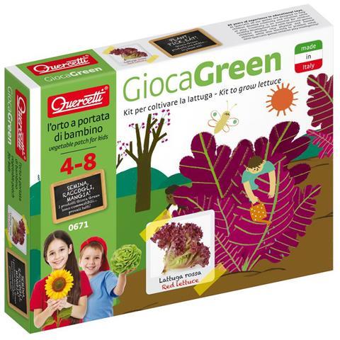 QUERCETTI Gioco in legno 0671 - Gioca Green Lattuga Rossa