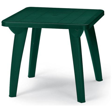 Tavolo Giardino Quadrato 85x85 Cm Dinner Verde