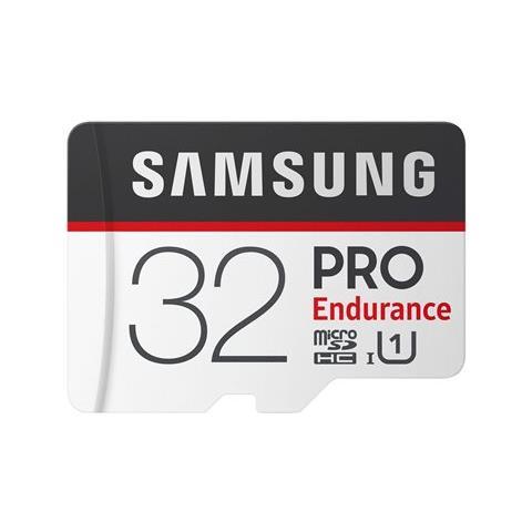 SAMSUNG MicroSD PRO Endurance da 32GB Velocità UHS-I di Classe 10 fino a 100 MB / s in Lettura + Adattore SD