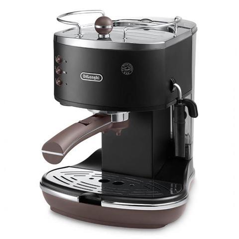 ECOV311BK Macchina del Caffè Icona Vintage Cialde e Polvere 1100 Watt 1.4 Litri