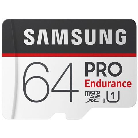 SAMSUNG MicroSD PRO Endurance da 64GB Velocità UHS-I U1 di Classe 10 fino a 100 MB / s in Lettura + Adattore SD