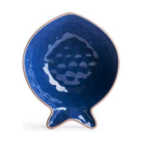 Coppa Da Portata Piccola Seafood Blu, Porcellana Cm 18x15x6