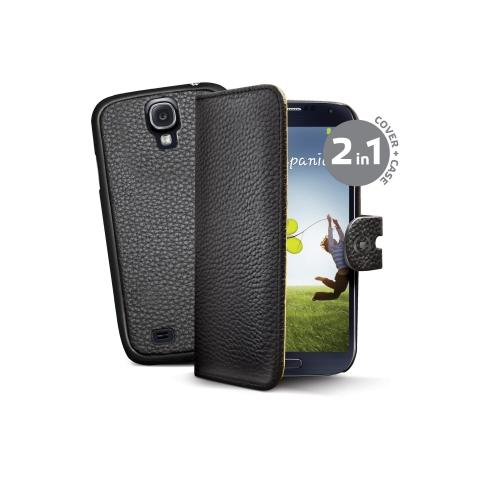 CELLY bk pu wallet case for galaxy s4
