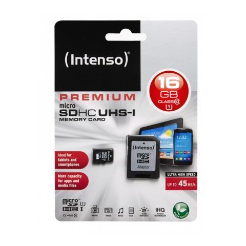 INTENSO MicroSD da 16 Gb UHS