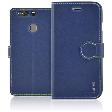FONEX Identity Book Custodia a Libro per Huawei P9 Plus Colore Blu