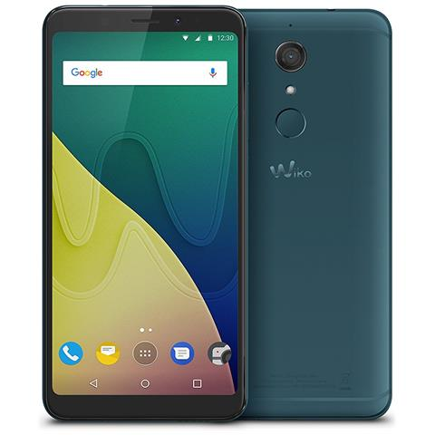 "WIKO View XL Verde Acqua 32 GB 4G / LTE Dual Sim Display 5.99"" HD+ Slot Micro SD Fotocamera 13 Mpx Android Italia"