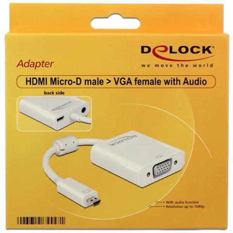 DeLOCK *Adattatore Hdmi Micro D Maschio - 15 Poli Vga Femmina