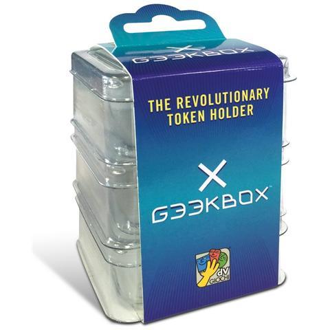 DV GIOCHI Geekbox - Scatolina Impilabile Per Pedine, Dadi, Tessere