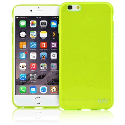 FONEX Inv Cover Ultra Sottile 0,2 mm in Morbido TPU per iPhone 6/6S Colore Lime Trasparente